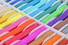 Pastels próximos do quadrado da vista Foto de Stock Royalty Free