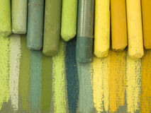 Pastels secados imagem de stock
