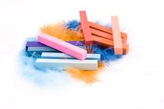 pastelu pióra fotografia stock