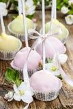 Pastelu tort strzela w romantycznym wiosna secie Zdjęcia Royalty Free
