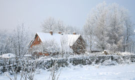 Pasterka village in snow – winter in Poland Royalty Free Stock Photography