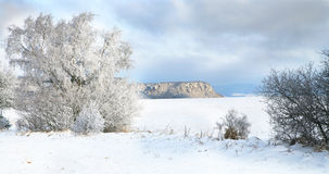 Pasterka village in snow – winter in Poland Stock Image