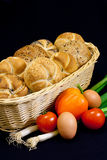 Pastery met groente Royalty-vrije Stock Afbeeldingen