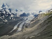 Pasterz - the longest glacier in the eastern Alps. Below Grossglockner mountain in Hohe Tauern national park in Austria stock image