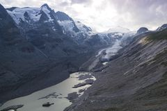 Pasterze冰川 高山grossglockner公路 奥地利 库存照片