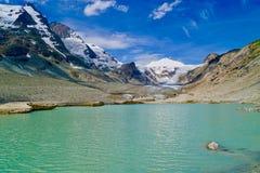 Pasterze glaciär, Grossglockner hög alpin väg Arkivfoton