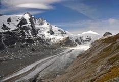 Pasterze glaciär i Hohe Tauern Fotografering för Bildbyråer