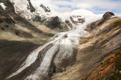 Pasterze glaciär nära Grossglockneren, Österrike Royaltyfri Foto