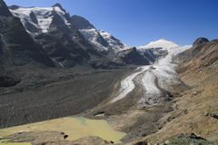 Pasterze glacier. In the National Park of Hohe Tauern, Austria Royalty Free Stock Image