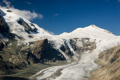 Pasterze glacier in Austrian Alps Royalty Free Stock Images