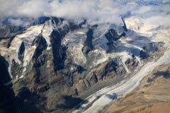 Pasterze Glacier, Großglockner - aerial view Stock Images