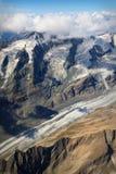 Pasterze Glacier at Großglockner massif Stock Photos