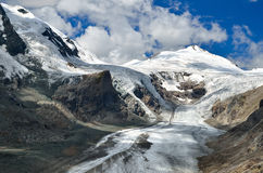 Pasterze glacier and Grossglockner, Austria Stock Photo
