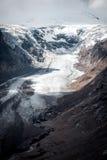 Pasterze Glacier from Grossglockner Hohalpenstrasse.  Alps, Aust Royalty Free Stock Images