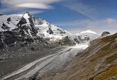 Pasterze Glacier in Hohe Tauern. Pasterze Glacier in the Hohe Tauern Mountains Stock Image