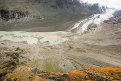 Pasterze glacier. Pasterze, the longest glacier of Austria at the Grossglockner Stock Images