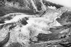 Pasterze glacier. Pasterze, the longest glacier of Austria at the Grossglockner Stock Photos