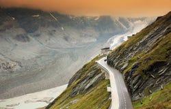 Pasterze glacier. Pasterze, the longest glacier of Austria at the Grossglockner Royalty Free Stock Photo
