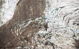 Pasterze glacier. Pasterze, the longest glacier of Austria at the Grossglockner Stock Image