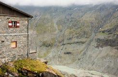 Pasterze glacier. Pasterze, the longest glacier of Austria at the Grossglockner Stock Photo