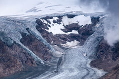 Pasterze glacier and snow in high alpine mountains Stock Photography