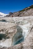 The Pasterze (Grossglockner) glacier in Alps Stock Images