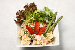 Pastes Salad From Top Stock Images
