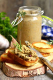 Pastete von der Rindfleischleber und -gemüse Lizenzfreies Stockbild