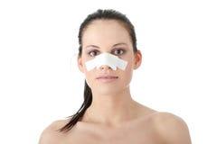 pastic kirurgi för näsa Arkivfoton