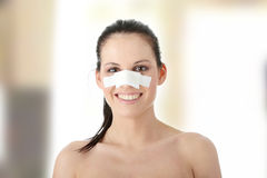 Pastic surgery - nose Royalty Free Stock Images