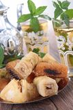 Pasticceria e tè Fotografia Stock