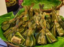 Pasticceria farcita nel mercato Bangkok Tailandia Fotografia Stock Libera da Diritti