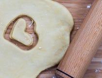 Pasticceria a forma di del cuore casalingo Immagine Stock Libera da Diritti