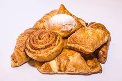 Pasticceria fresca dei croissant Fotografie Stock Libere da Diritti