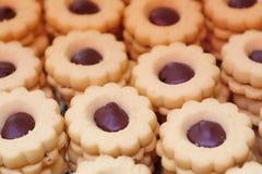 Pasticceria italiana - biscotto con cioccolato Fotografia Stock