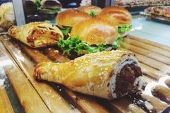 Pasticceria vietnamita ed hamburger di stile fotografia stock