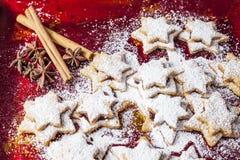 Pasticcerie di Chrismas & zucchero in polvere 4 Immagine Stock Libera da Diritti