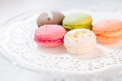 Pasticcerie francesi di Macarons Fotografie Stock