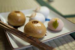 Pasticcerie giapponesi Fotografia Stock