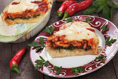 Pasticcio with chard and zucchini Royalty Free Stock Images