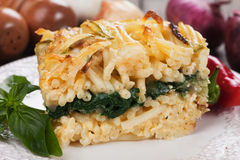 Pasticcio with chard and zucchini Stock Photography