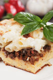 Pasticcio with ground beef and bechamel sauce Stock Photo