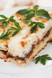 Pasticcio with ground beef and bechamel sauce Royalty Free Stock Photos
