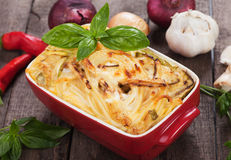 Pasticcio with zucchini and cheese Stock Photo