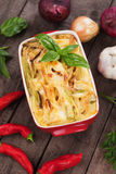 Pasticcio with zucchini and cheese Royalty Free Stock Photography