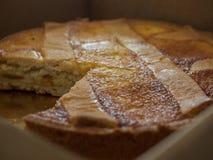 Pastiera nopletana bardzo smakowity tort obrazy stock