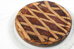 Pastiera Pie of Ricotta and Grain Royalty Free Stock Photography