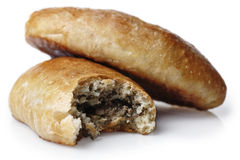 Pasties with meat. Homemade meat pasties close up Stock Images