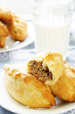 Pasties stuffed meat Royalty Free Stock Photos