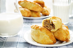 Pasties stuffed meat Stock Photography